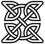 Celtic Knot - There are many types of celtic knots, each with different meanings. Here are a few of the meanings of celtic knots.  The Eternity Celtic knot symbolizes the never-ending eternal circle of life.   The Shield Celtic knot is a symbol for protection. The ancient Celts used it to decorate the shields of warriors, the clothing of children, and to protect the sick.