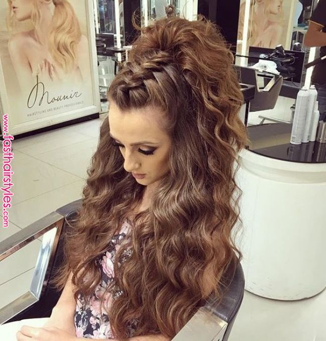 Beautiful style for hair. Could also work for a top knot.