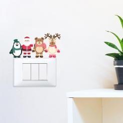 Amici di Babbo Natale Santa's Friends Adesivo per interruttore, spina, placca - Light Switch Sticker