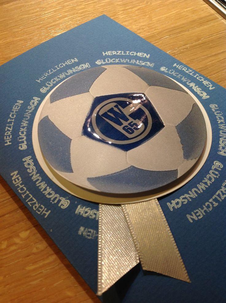 Schalke 04, Geburtstagskarte, Fussball, Soccer, Karte, Stampin'Up, Crystal Effects,