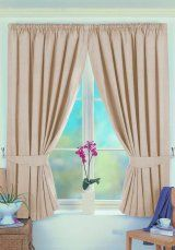 Norfolk Blackout Beige Pencil Pleat Curtains - Ready-made-kurtinz.com offers a huge range of designer readymade curtains for everyone. We provide roman blinds, bedding and cushions. Also, our curtains are available in pencil pleat, eyelet and tab top headings. Currently, we have 11% off discount on all items that we are offering on our website. The code for this promo is 112013. Now is the best time to revamp your home with luxurious readymade curtains available at ready-made-kurtinz.com.