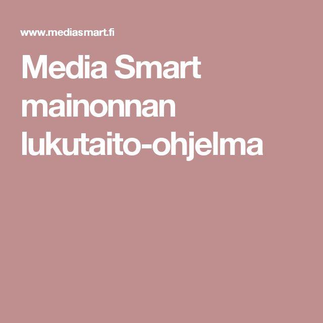 Media Smart mainonnan lukutaito-ohjelma