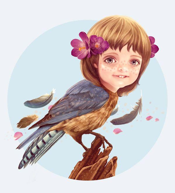 Create a Fantasy Girlbird Illustration in Photoshop | Psdtuts+