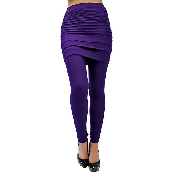 Purple Solid Stretch Footless Tights With Pleated Skirt ($19) ❤ liked on Polyvore featuring intimates, hosiery, tights, footless tights, leg wear, purple, footless pantyhose, purple tights, purple pantyhose and footless stockings
