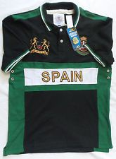 American Ranger Mens Green Spain Collared Shirt Soccer Futbol Jersey Large NWT