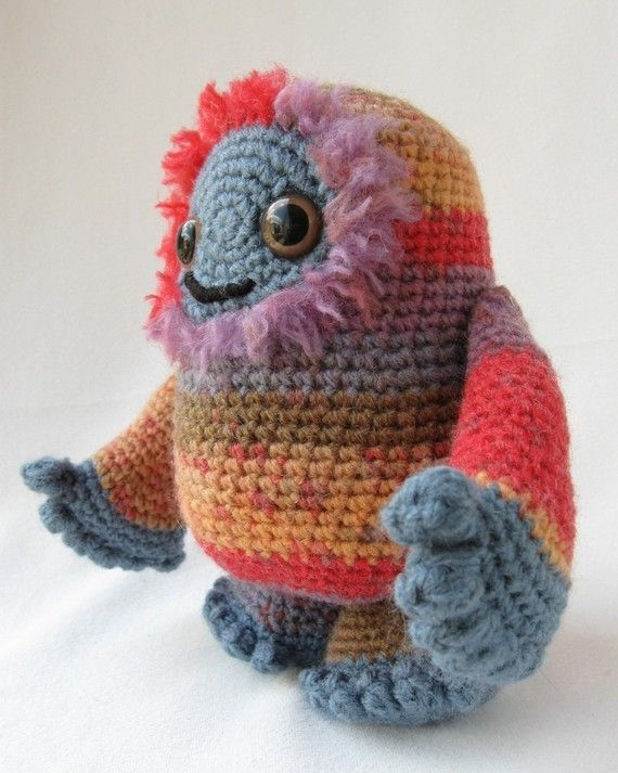 PDF of Adorable Monster Amigurumi Pattern by lucyravenscar on Etsy