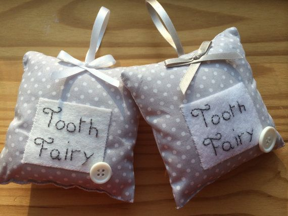 Tooth Pillow/cushion. Tooth Fairy.Handmade. by DaisyDoodleCrafts15