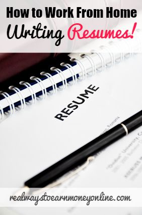 are you really good at writing resumes if so you could turn your skill - Writers Resume