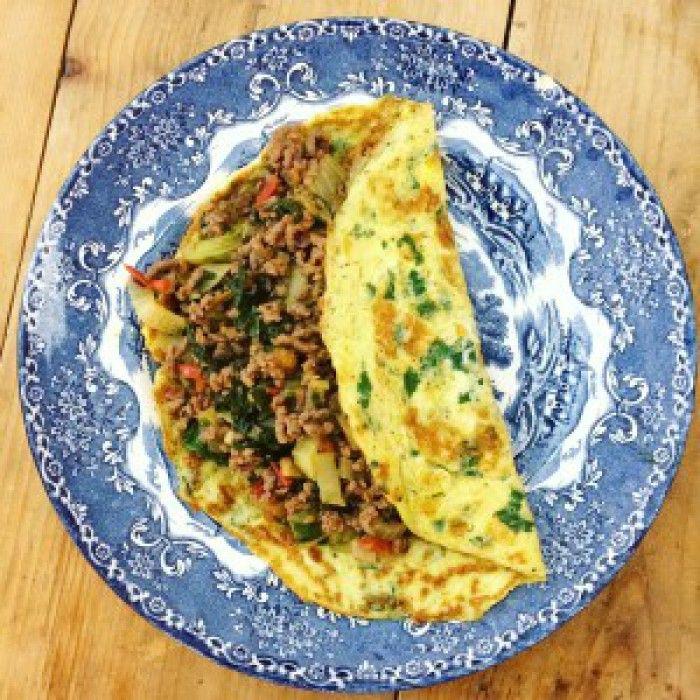 Gevulde Thaise omelet