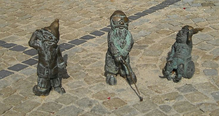 Figurines Dwarfs in Wroclaw, Poland