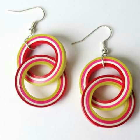 Quilled ear-rings