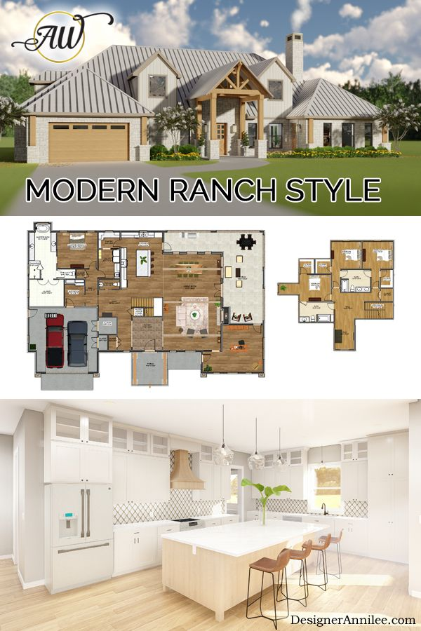 Modern Ranch House Plan Annilee Waterman Design Studio Ranch Style House Plans Open Concept Floor Plans Ranch Ranch Style Homes