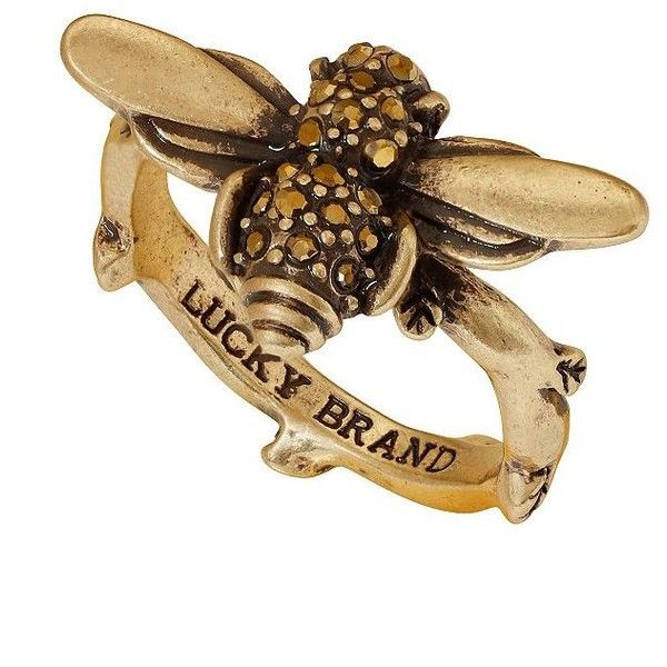 Lucky Brand Bee Charms Goldtone Ring ($29) ❤ liked on Polyvore featuring jewelry, rings, gold, goldtone jewelry, gold tone jewelry, lucky brand rings, lucky brand jewelry and lucky brand jewellery