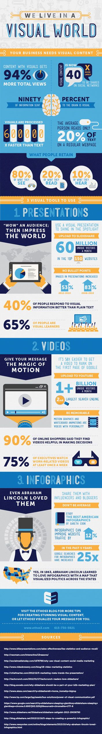 We Live in a Visual World Infographic #infographic #design #visual #communication