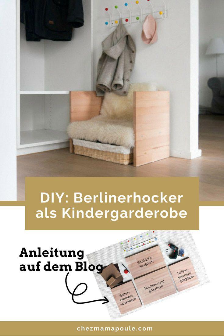 Kindergarderobe mit Berlinerhocker: DIY Anleitung