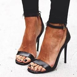 0a729624f32b  AdoreWe  Shoespie -  Shoespie Shoespie Stylish Black Stiletto Heel Heel  Covering Peep Toe Sandals - AdoreWe.com