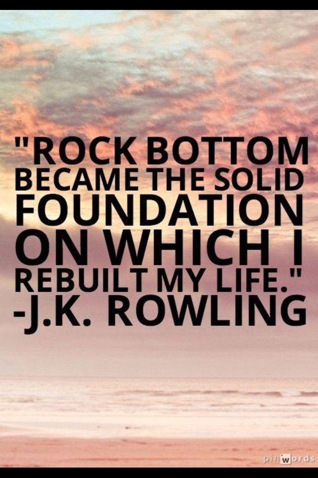 Jk Rowling Solid Foundation Life Quotes