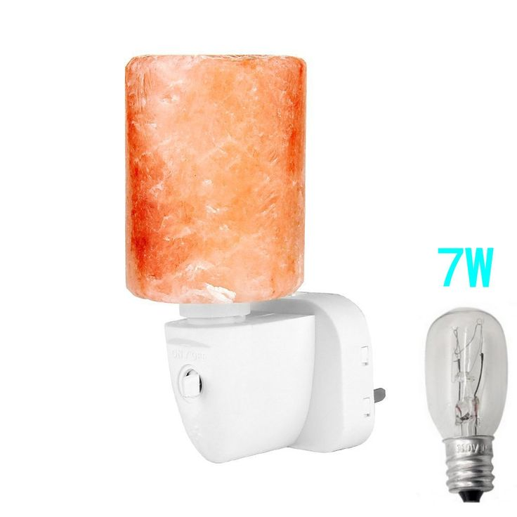 Mini Salt Lamp night light, Hand Carved Himalayan Rock Salt Lamp Wall Lamp Natural Lonic Air Purifier Crystal Night Light (cylinder-shaped)