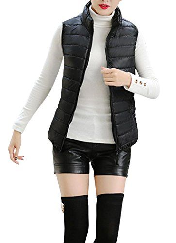 Women's Outerwear Vests - Anmengte Women Spring Warm Lightweight Down Vest Jacket Coat Zipper Outwear Plus Size FBA ** Want to know more, click on the image. (This is an Amazon affiliate link)
