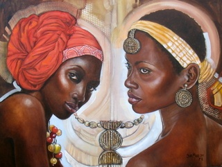 Title - Elegant Africa 1  Medium - Oil on stretched canvas  Size - 61cms x 46cms  Available at the Art Beat Gallery, Woodmead, Sandton