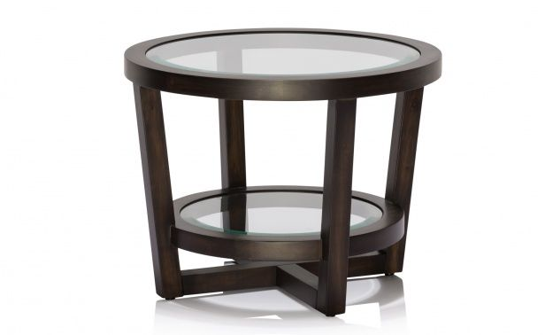 Coco Republic Gramercy Round Side Table - Charcoal