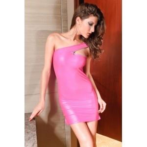Zipper Shoulder Mini Dress