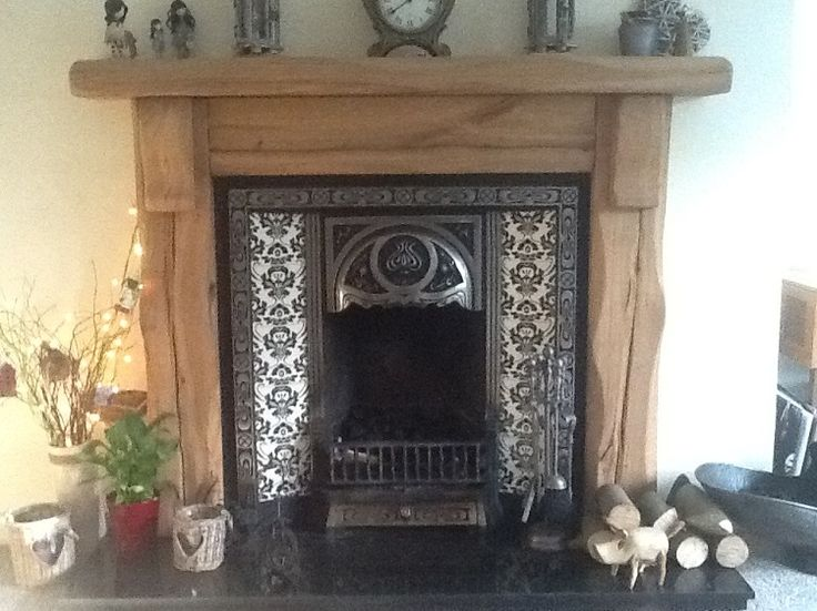 The Waney Edge Kendal Rustic Oak Beam Fire Surround that we made for Paul Turner. The splits, cracks and character of the air dried oak shine through to create a stunning focal point of Pauls home.