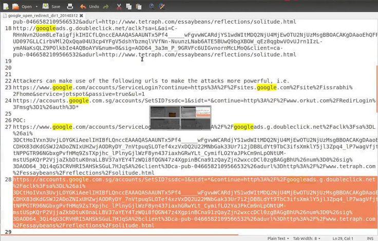 Google DoubleClick.net(Advertising) System URL Redirection Vulnerabiliti... http://whitehatpost.lofter.com/post/1cc773c8_3a0bab4