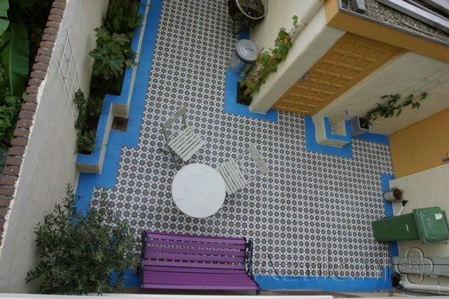 Cementtiles outside - Azule 01 Maroc - Egal Azule S34 - Project van Designtegels.nl