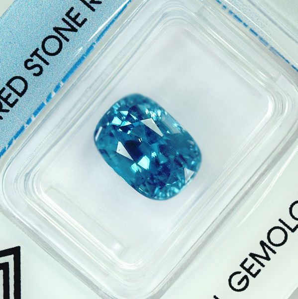 Currently at the #Catawiki auctions: Natural Blue #Zircon - 7.17 ct