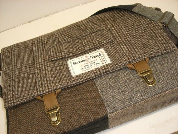 Laptop Bag | Recycled Suit Coat by