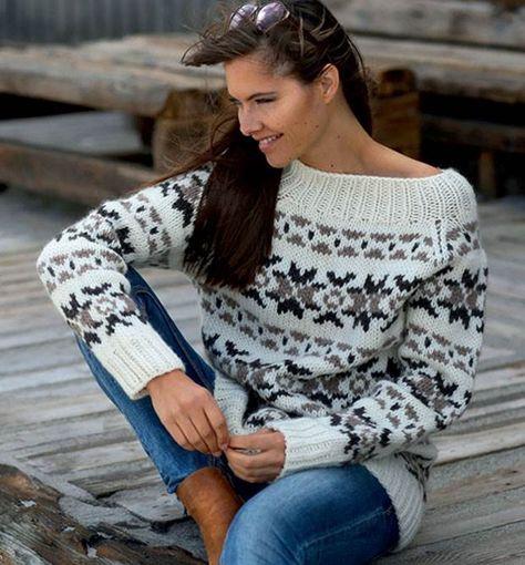 Strik selv: Færøskinspireret sweater - Hendes Verden - ALT.dk