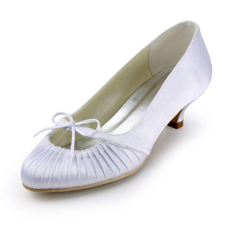 Fabulous 1.5 inch Ruffle Bowknot Almond Toe Pumps – Wedding Shoes