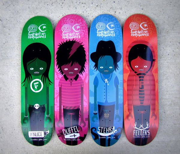 Foundation Skateboards by Andrew Groves in Showcase of Cool and Unusual Skateboard Designs