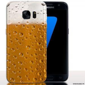 Coque pour telephone Samsung S7 Verre de Biere   Housse S7. #Belgique #Biere #S7 #Coque #Phonecover