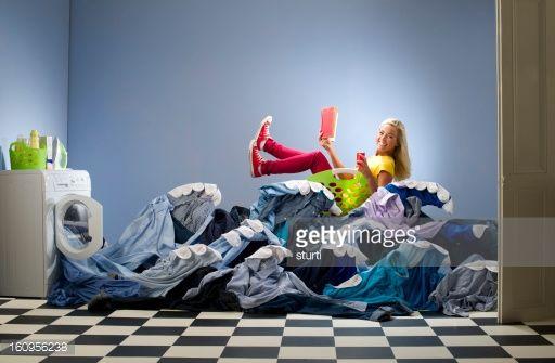 Stock Photo : washing overload