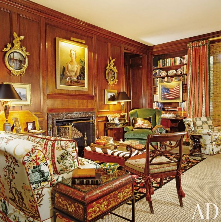 Traditional Living Room By Mario Buatta And John F Staub In Houston Texas