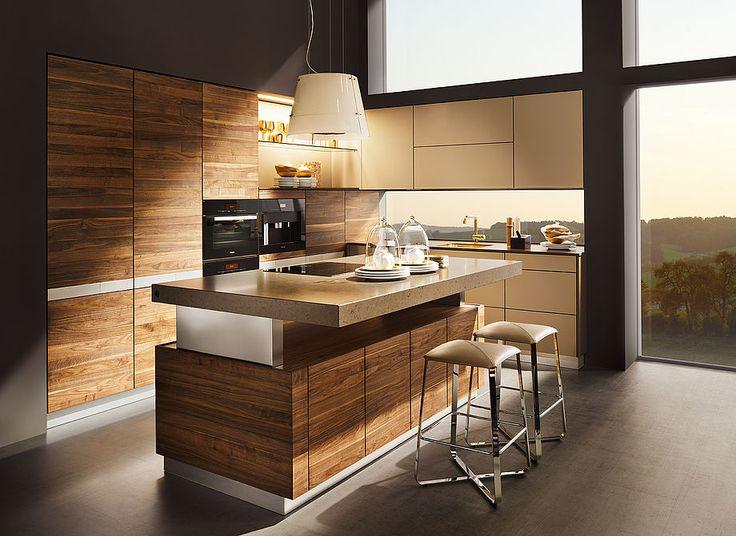 K7 Küche Mit Harmonischem Holzbild Der Von Hand Sortierten Fronten