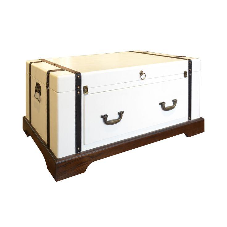 Pure White Suitcase Coffee Table. A classic pure white suitcase design of coffee table. Be it a coffee table and a perfect storage spot to save some room space.