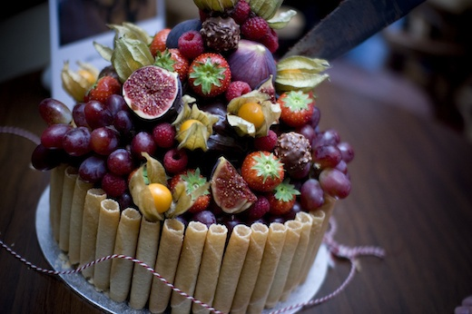 Declan's 30th Birthday Cake - Double chocolate and fresh fruit. http://stonecoldcomfort.blogspot.co.uk/ #cake #chocolate #fruit #birthday