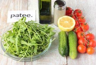 Салат свежие помидоры огурцы калорийность