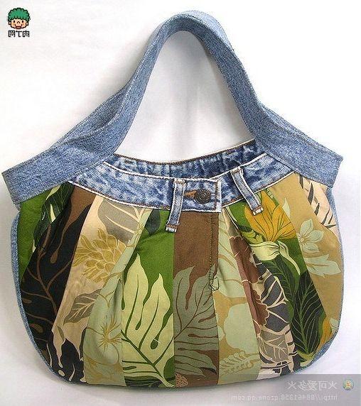 Bags and denim jeans. Сумки из джинсов