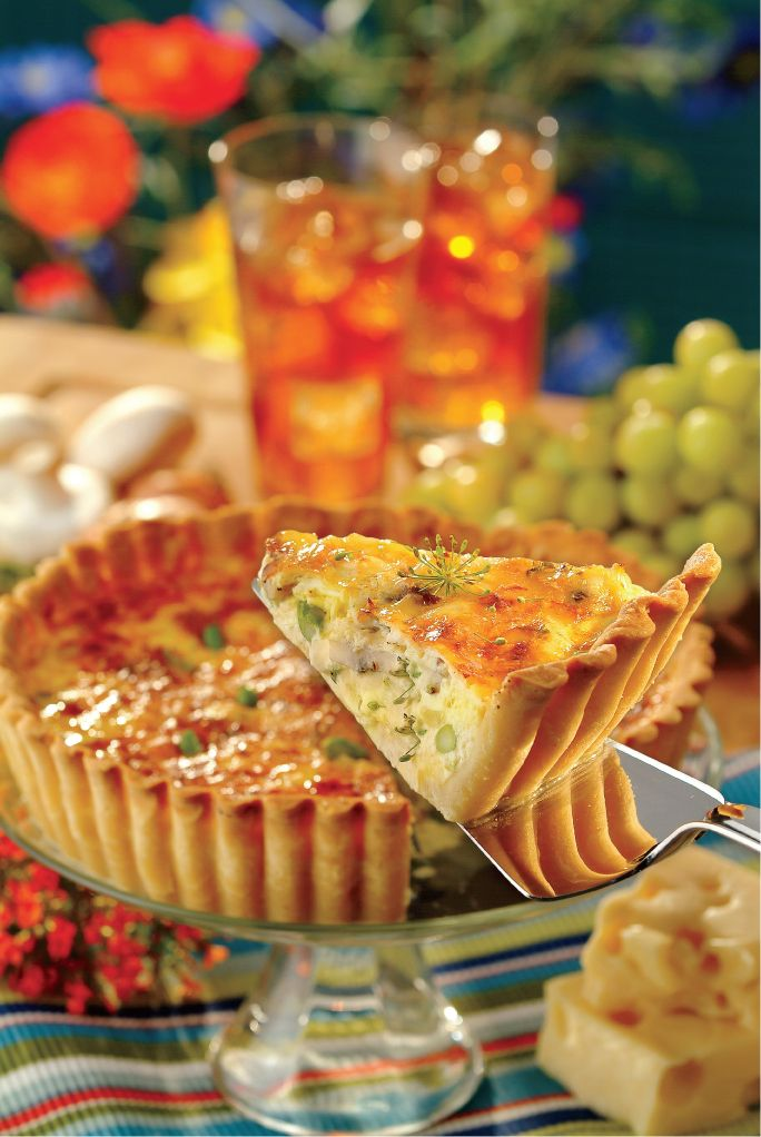 Crab, Mushroom & Asparagus Quiche from Save Mart