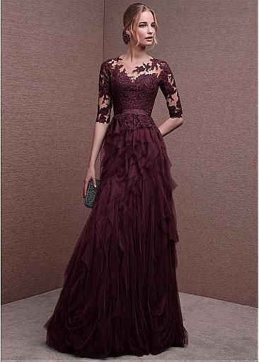 Sexy Evening Dress, Lace Prom Dress, Long Prom