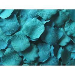 Seidenrosenblätter türkisblauTischdekoration (100 Stück)