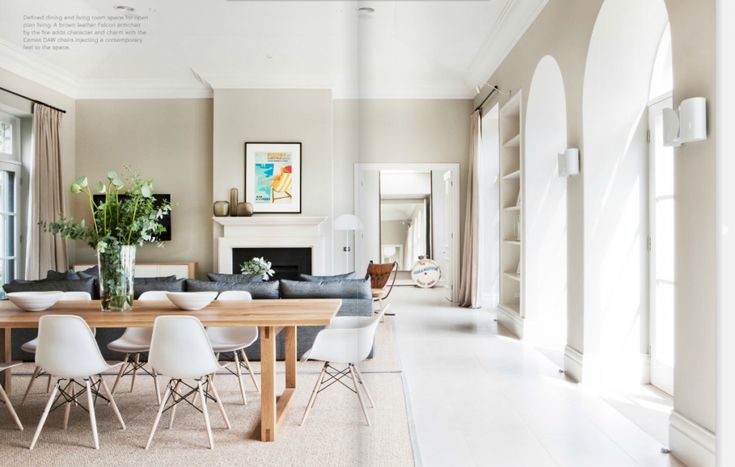 Time to Dine in this Australian beach home's great room. Interior Design: Doherty Lynch, via @Nora S. magazine.
