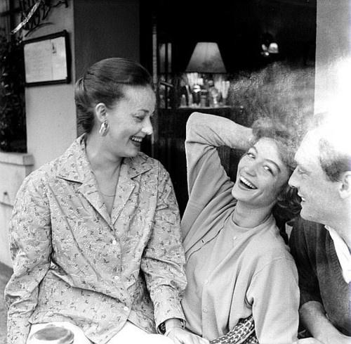 Jeanne Moreau, Anouk Aimée, Maurice Ronet