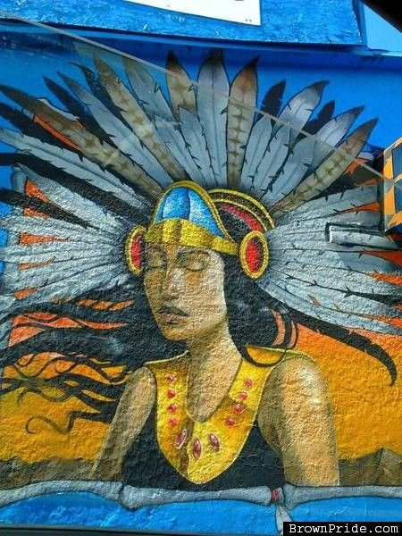 17 best images about graffiti mexicano mexican street for Aztec mural painting