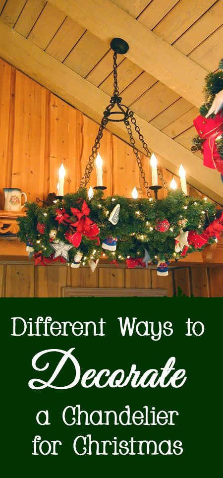 179 best christmas decorating ideas images on pinterest christmas different ways to decorate your chandelier for christmas diy do it yourself ideas solutioingenieria Choice Image