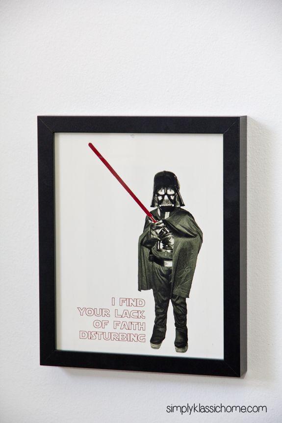 Love this idea! Thomas as Darth Vader!